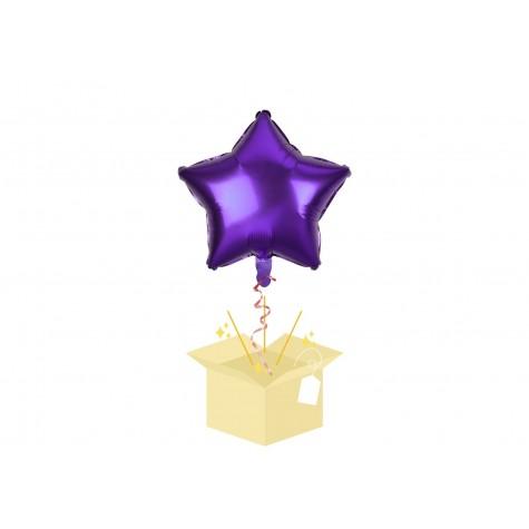 Fioletowa Gwiazdka Balon z helem