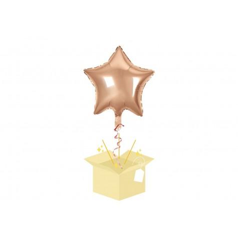 Złota Gwiazdka Balon z helem