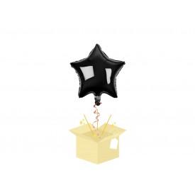 Czarna Gwiazdka Balon z helem