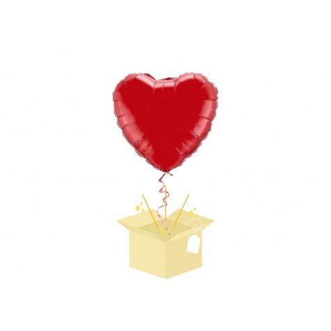 Czerwone Serce Balon z helem